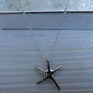 Jewelry - NEW- Sterling Silver Starfish Necklace